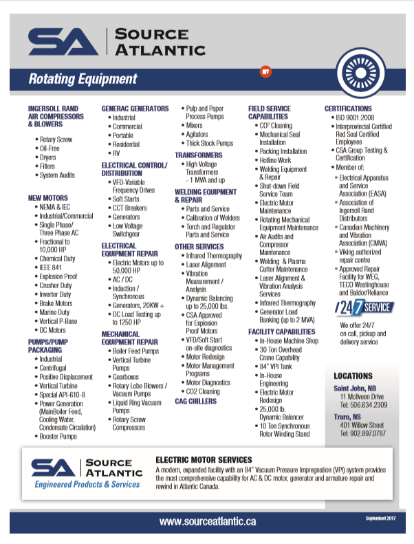 Rotating Equipment Line Card