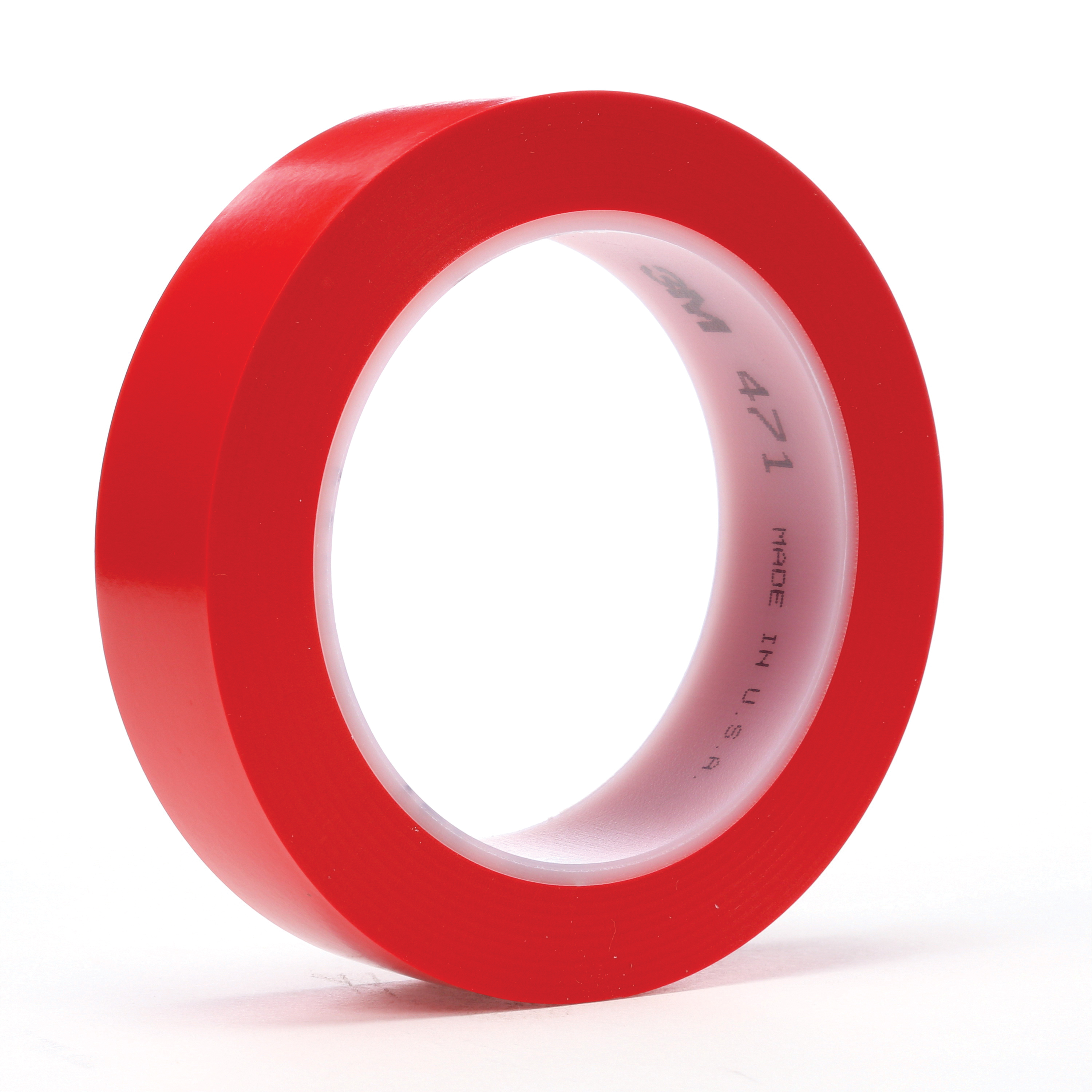 3M™ 021200-03107 471 High Performance Marking Tape, 1 in W x 36 yd Roll L, 5.2 mil THK, Red