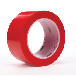 3M™ 021200-03110 471 High Performance Marking Tape, 4 in W x 36 yd Roll L, 5.2 mil THK, Red