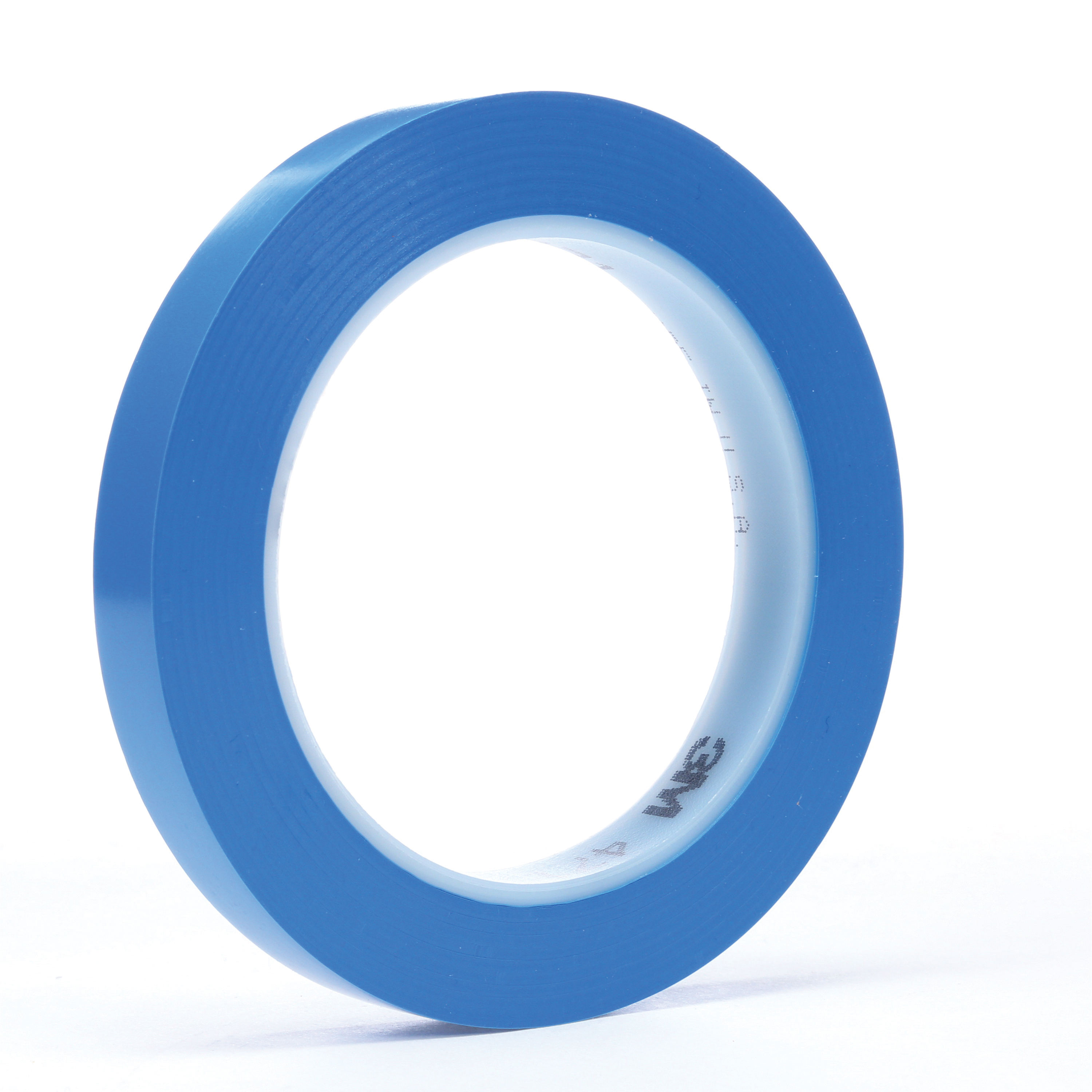 3M™ 021200-03120 High Performance Vinyl Tape, 36 yd L x 3/4 in W, 5.2 mil THK, Rubber Adhesive, Vinyl Backing, Blue
