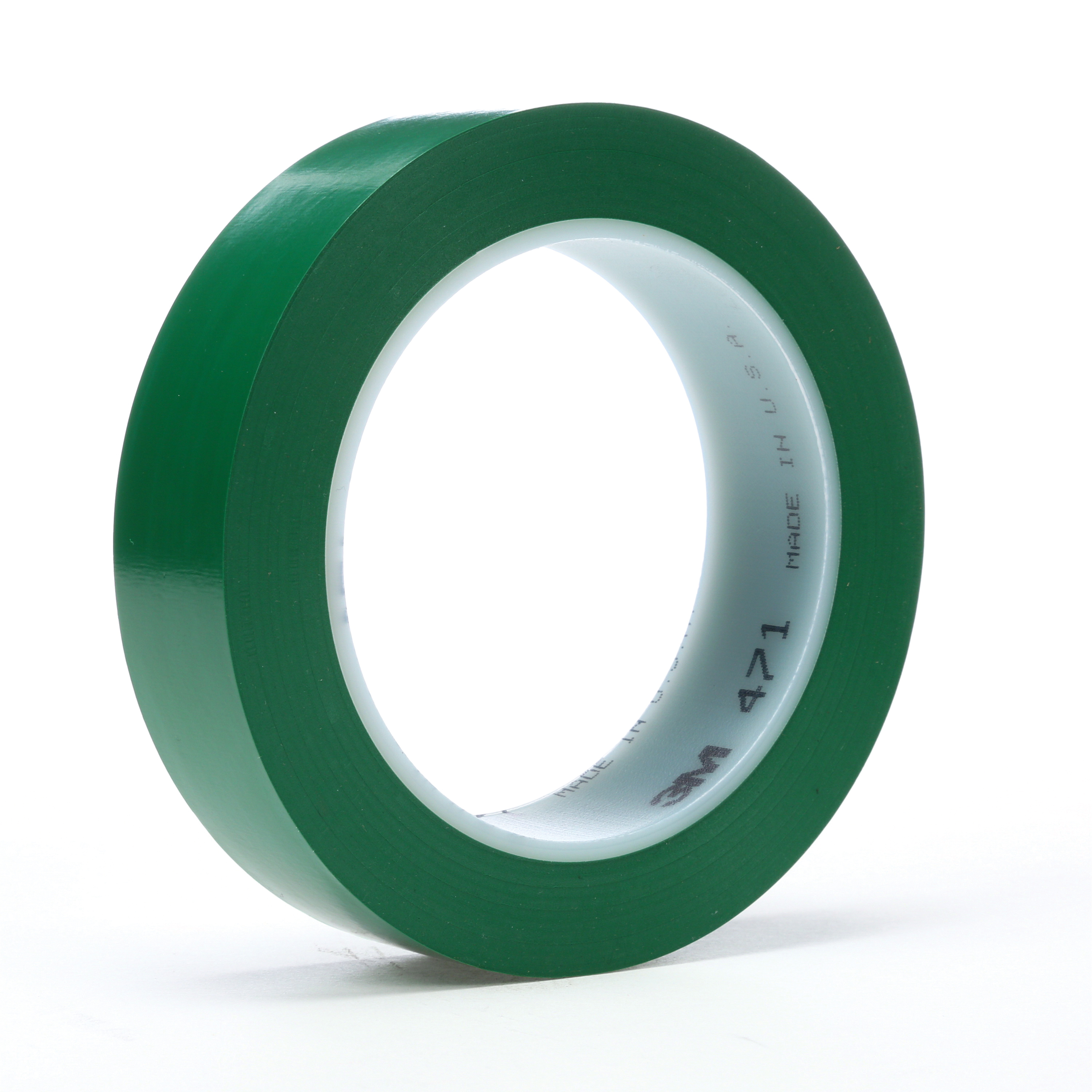 3M™ 021200-03144 High Performance Vinyl Tape, 36 yd L x 3/4 in W, 5.2 mil THK, Rubber Adhesive, Vinyl Backing, Green