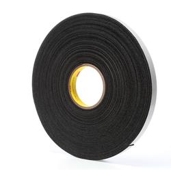 3M™ 021200-03308 Single Coated Foam Tape, 36 yd L x 3/4 in W, 62 mil THK, Acrylic Adhesive, Vinyl Foam Backing, Black