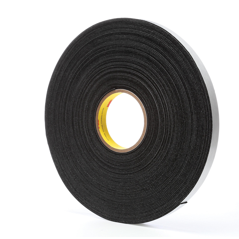 3M™ 021200-03308 4516 Single Coated Foam Tape, 3/4 in W x 36 yd Roll L, 62 mil THK, Black