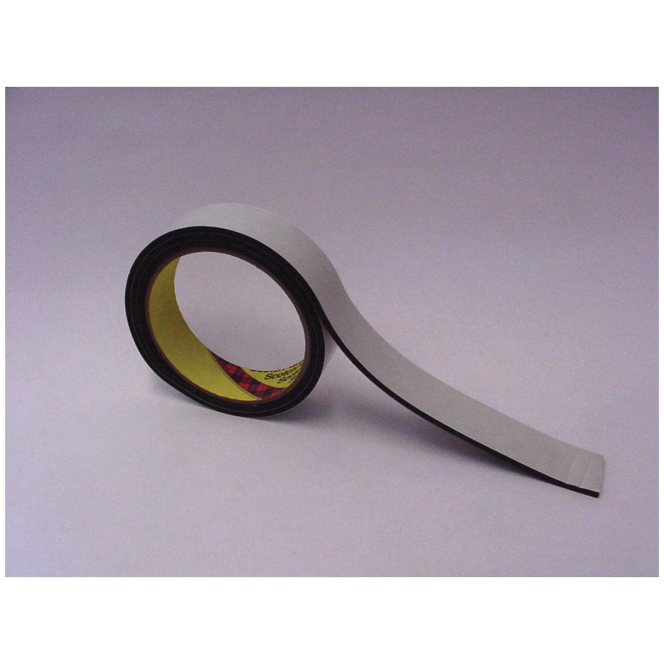 3M™ 021200-03310 4508 Single Coated Foam Tape, 1/4 in W x 36 yd Roll L, 125 mil THK, Black