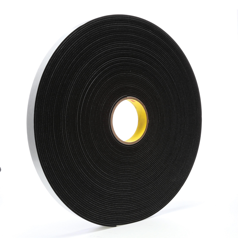 3M™ 021200-03314 4508 Single Coated Foam Tape, 1 in W x 36 yd Roll L, 125 mil THK, Black