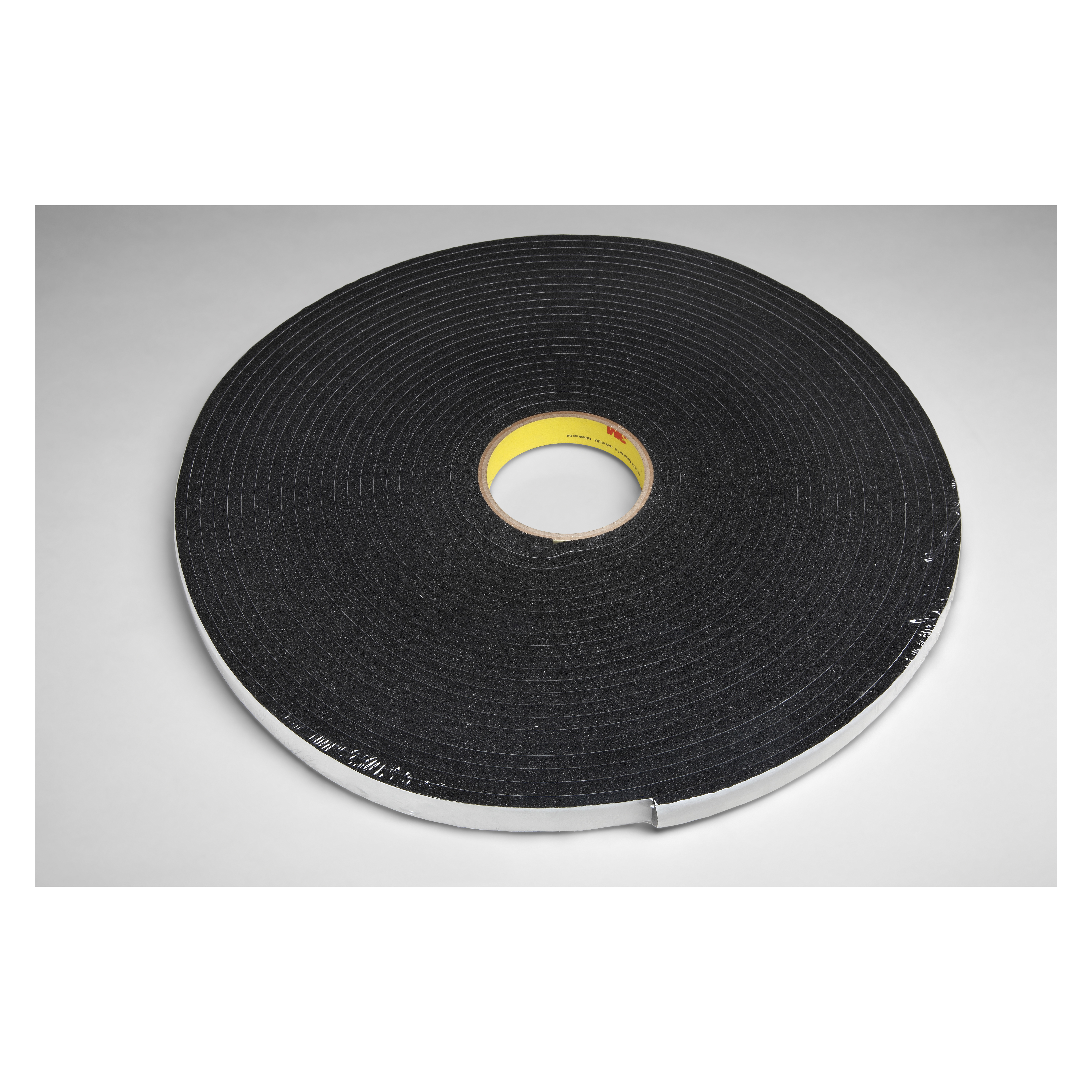 3M™ 021200-03318 Single Coated Foam Tape, 18 yd L x 1/2 in W, 250 mil THK, Acrylic Adhesive, Vinyl Foam Backing, Black