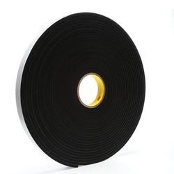 3M™ 021200-03320 Single Coated Foam Tape, 18 yd L x 1 in W, 250 mil THK, Acrylic Adhesive, Vinyl Foam Backing, Black