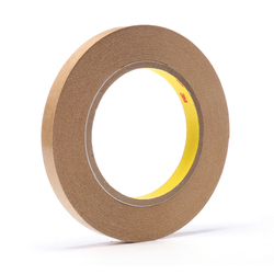 3M™ 021200-03335 Fibered General Purpose Adhesive Transfer Tape, 60 yd L x 1/2 in W, 2 mil THK, 2 mil 400 Acrylic Adhesive, Clear
