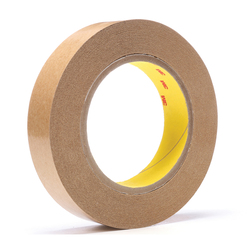 3M™ 021200-03337 Fibered General Purpose Adhesive Transfer Tape, 60 yd L x 1 in W, 2 mil THK, 2 mil 400 Acrylic Adhesive, Clear