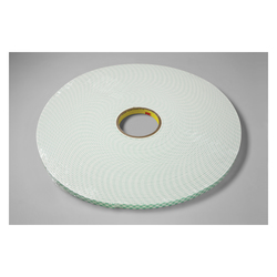 3M™ 021200-03383 Double Coated Tape, 36 yd L x 3/8 in W, 125 mil THK, Acrylic Adhesive, Urethane Foam Backing, Off-White