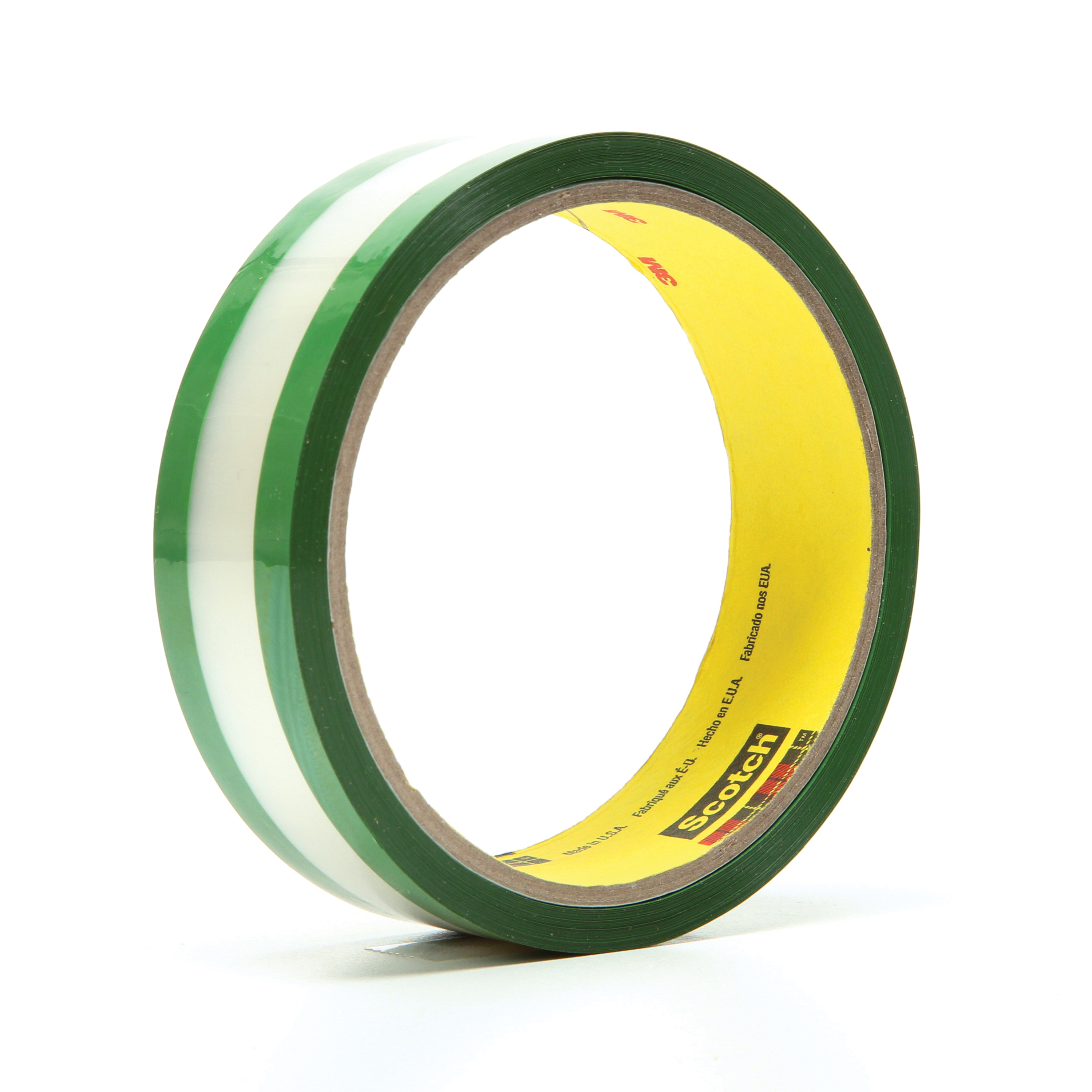 3M™ 021200-03508 Riveters Film Tape, 36 yd L x 1 in W, 1.7 mil THK, Rubber Adhesive, 1 mil Transparent Polyester Backing, Green