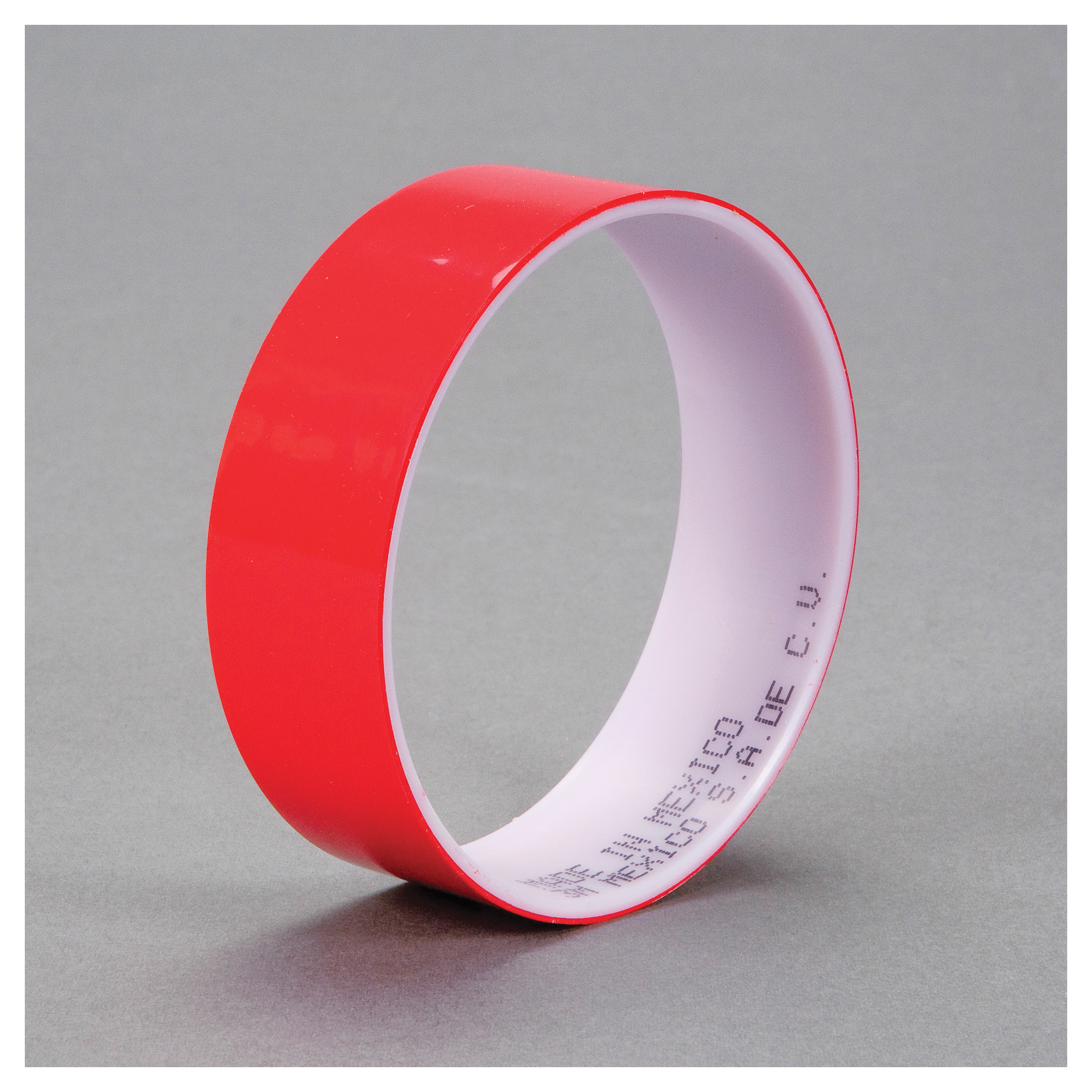 3M™ 021200-03573 Film Tape, 72 yd L x 1 in W, 1.9 mil THK, Acrylic Adhesive, 0.9 mil Polyester Backing, Red