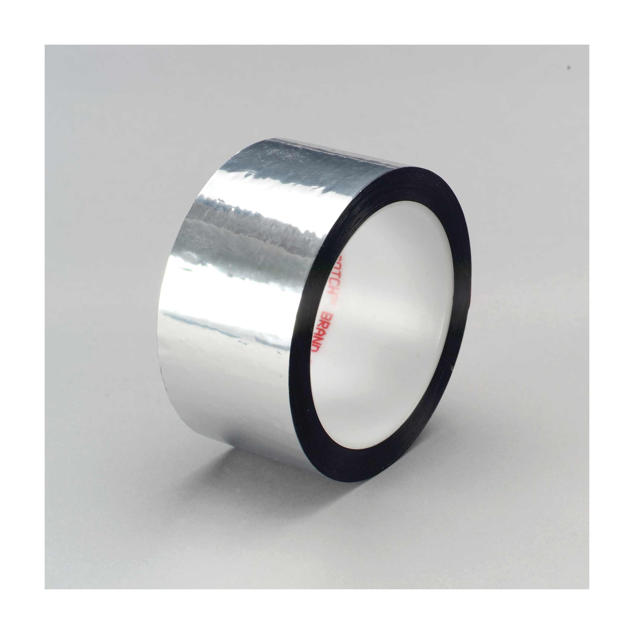 3M™ 021200-03577 Film Tape, 72 yd L x 1/2 in W, 1.9 mil THK, Acrylic Adhesive, 0.9 mil Polyester Backing, Silver