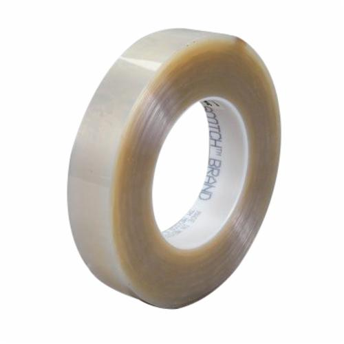 3M™ 021200-04024 Clear High Transparency Heavy Duty Non-Yellowing Film Tape, 72 yd L x 1 in W, 6.3 mil THK, Acrylic Adhesive, 4.6 mil Polyester Backing, Transparent