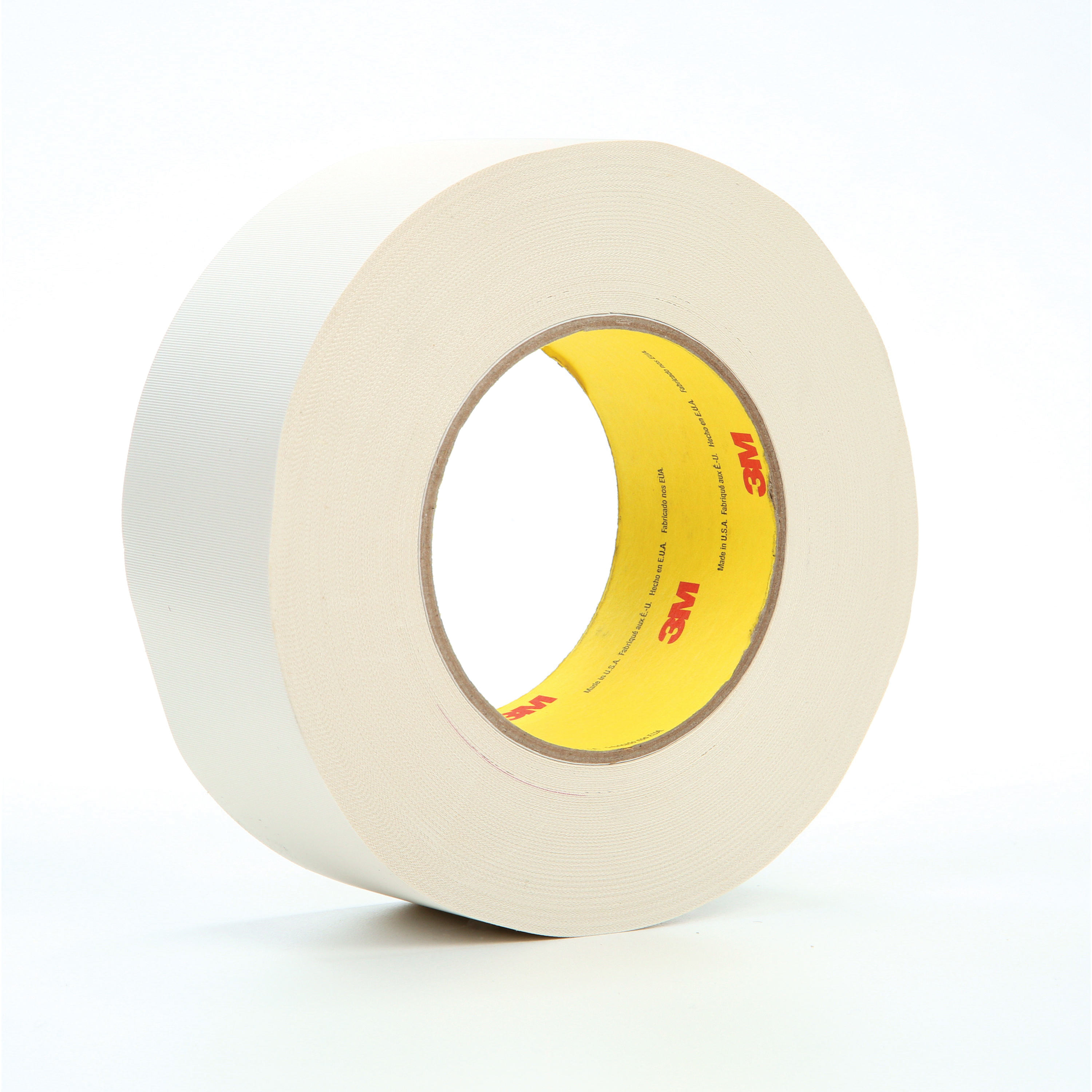 3M™ 021200-04277 Cloth Tape, 60 yd L x 2 in W, 8.3 mil THK, Thermoset Rubber Resin Adhesive, Glass Cloth Backing, White