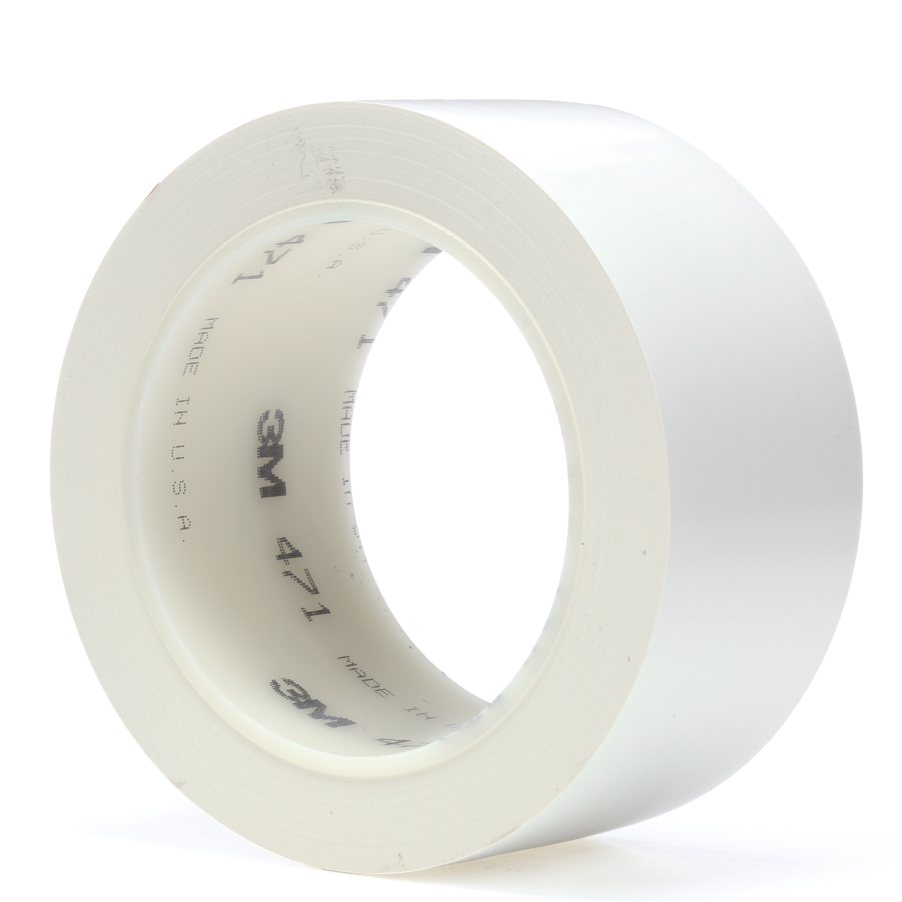 3M™ 021200-04311 High Performance Vinyl Tape, 36 yd L x 2 in W, 5.2 mil THK, Rubber Adhesive, Vinyl Backing, White
