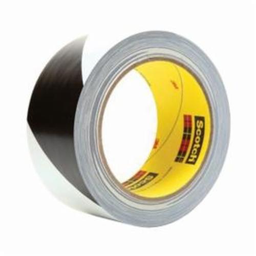 3M™ 021200-04367 Non-Antislip Safety Tape, 36 yd L x 2 in W, Black on White, Vinyl