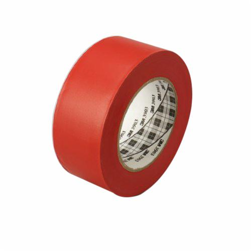 3M™ 051131-06992 General Purpose Duct Tape, 50 yd L x 2 in W, 6.5 mil THK, Rubber Adhesive, Embossed Vinyl Backing, Red
