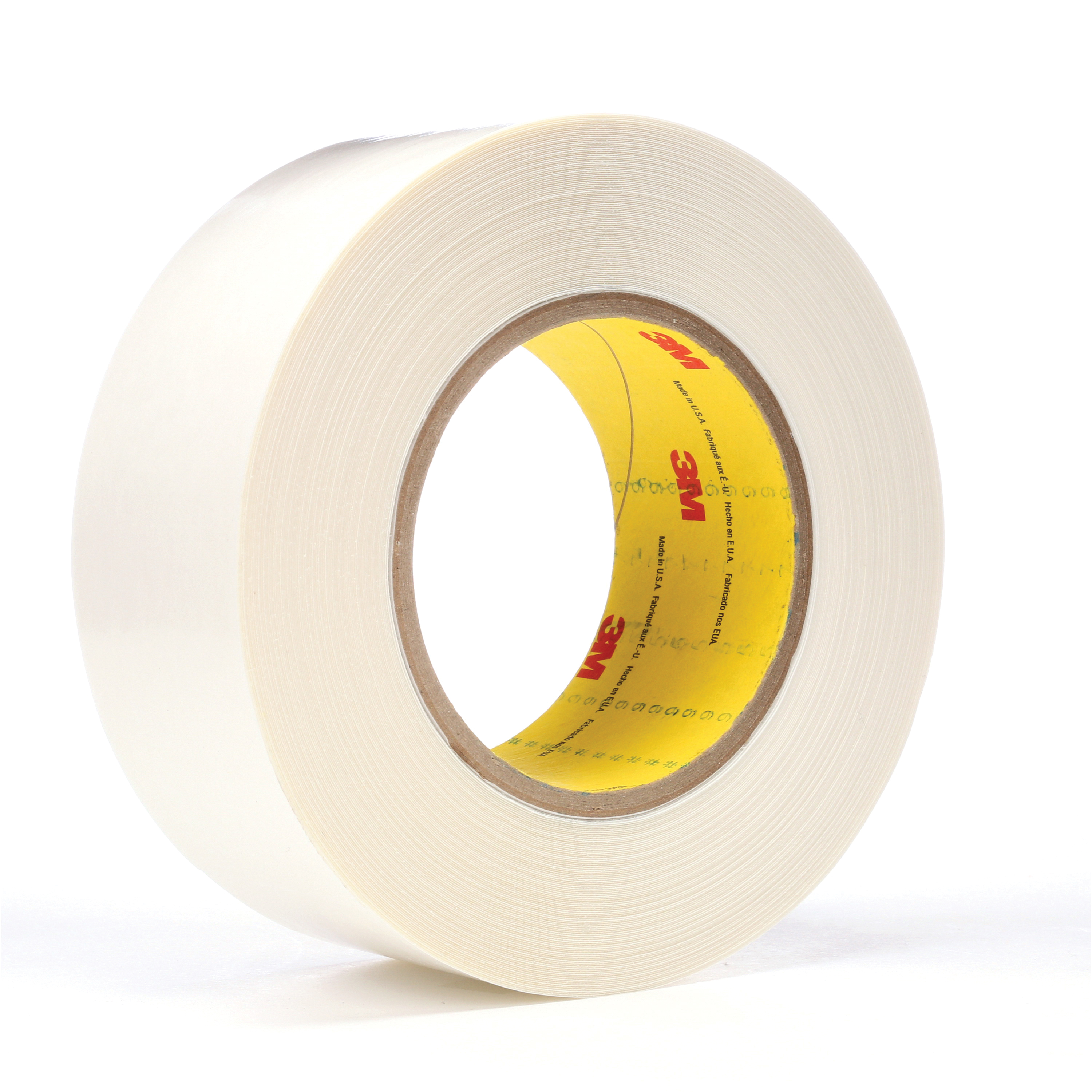 3M™ 021200-65869 Double Coated Tape, 36 yd L x 2 in W, 9 mil THK, Synthetic Rubber Adhesive, Polyethylene Backing, White