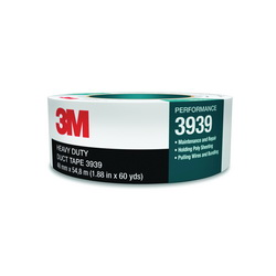 3M™ 021200-85561 Heavy Duty Duct Tape, 54.8 m L x 24 mm W, 8.6 mil THK, Rubber Adhesive, Polyethylene Over Cloth Scrim Backing, Silver