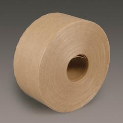 3M™ 051111-97701 Light Duty Water Activated Tape, 450 ft L x 72 mm W, 5 mil THK, Gummed Modified Cornstarch Adhesive, Fiberglass Reinforced Paper Backing, Kraft