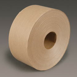 3M™ 051111-97704 Water Activated Tape, 450 ft L x 3 in W, 8.5 mil THK, Gummed Modified Cornstarch Adhesive, Fiberglass Reinforced Paper Backing, Kraft