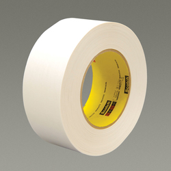 3M™ 051131-17595 Single Coated Strong Tape, 55 m L x 18 mm W, 7.5 mil THK, Repulpable Adhesive, Kraft Paper Backing, White