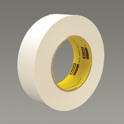 3M™ 051131-17597 Single Coated Strong Tape, 55 m L x 48 mm W, 7.5 mil THK, Repulpable Adhesive, Kraft Paper Backing, White