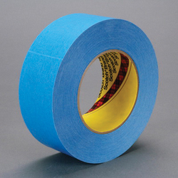 3M™ 051131-17582 Single Coated Strong Tape, 55 m L x 24 mm W, 7.5 mil THK, Repulpable Adhesive, Kraft Paper Backing, Blue