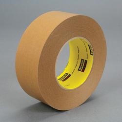 3M™ 051131-17602 Single Coated Strong Tape, 55 m L x 96 mm W, 7.5 mil THK, Repulpable Adhesive, Kraft Paper Backing, Kraft