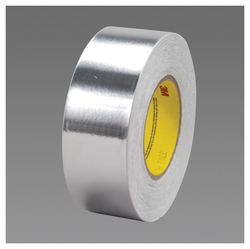 3M™ 051125-65822 Foil Tape, 36 yd L x 2 in W, 3.5 mil THK, Glassine Paper Liner, Conductive Acrylic Adhesive, 2 mil Aluminum Foil Backing, Silver