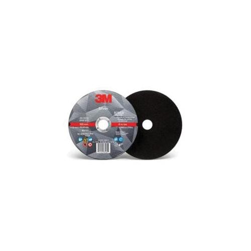 3M™ Silver 051125-87469 Straight Cut-Off Wheel, 6 in Dia x 0.045 in THK, 7/8 in Center Hole, Ceramic Abrasive