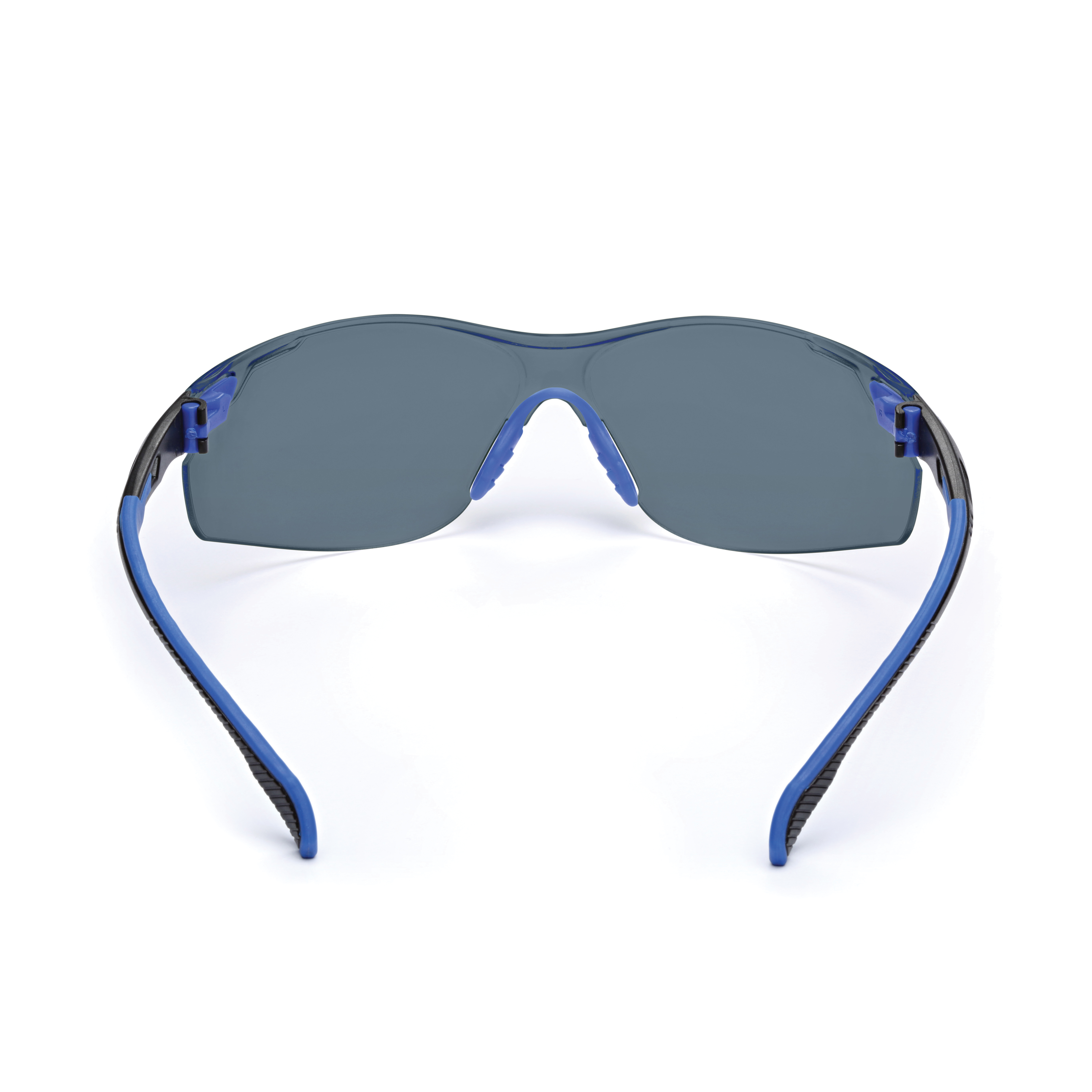 3M™ Solus™ 051131-27187 S1102SGAF 1000 Premium Safety Glasses, Scotchgard™ Anti-Fog Gray Lens, Half Framed Blue/Black Polycarbonate Frame, Polycarbonate Lens, Specifications Met: ANSI Z87.1-2015, CSA Z94.4