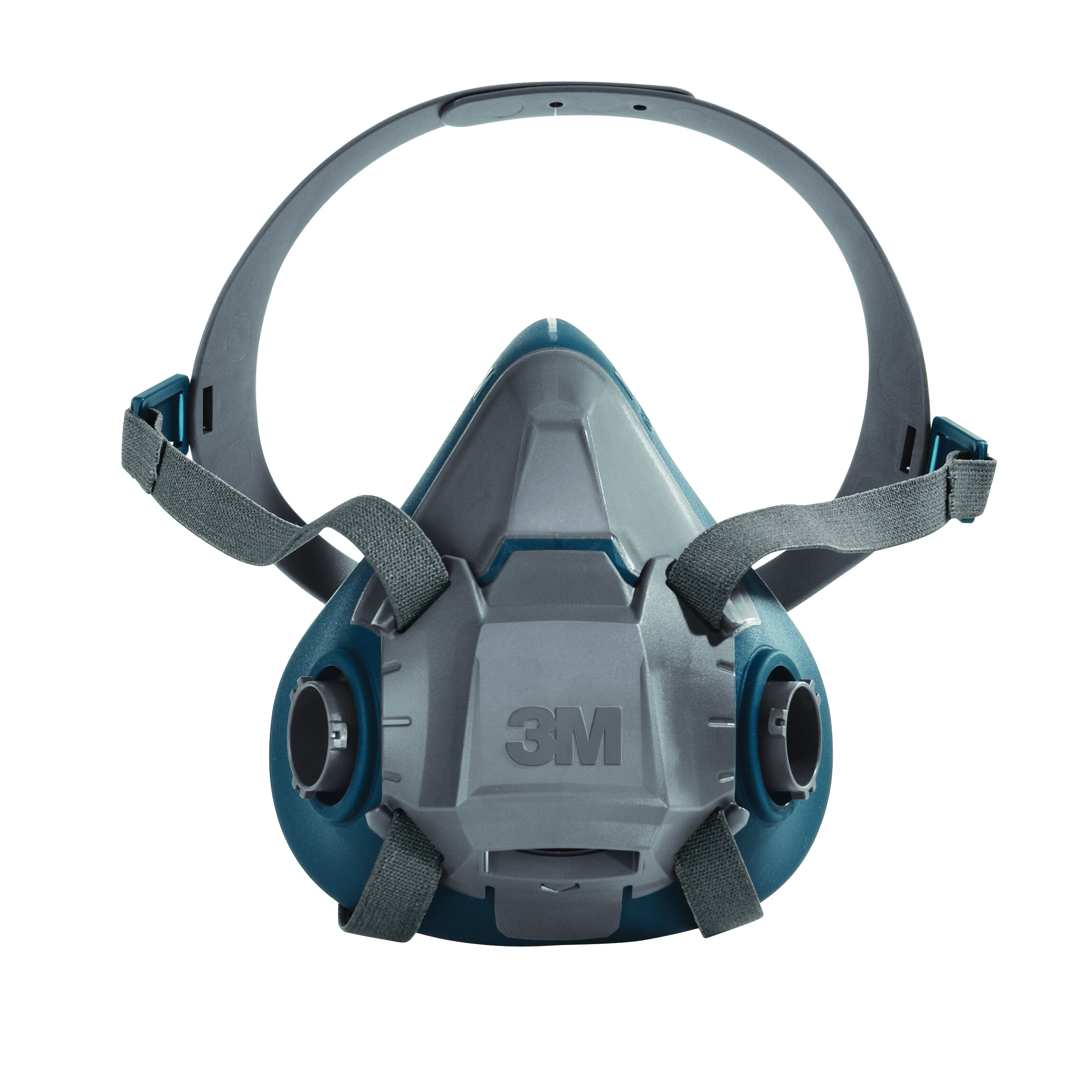 3M™ 051131-49489 Probed Reusable Half Facepiece Respirator, M, 4-Point Suspension, Bayonet Connection, Resists: Gases and Vapors