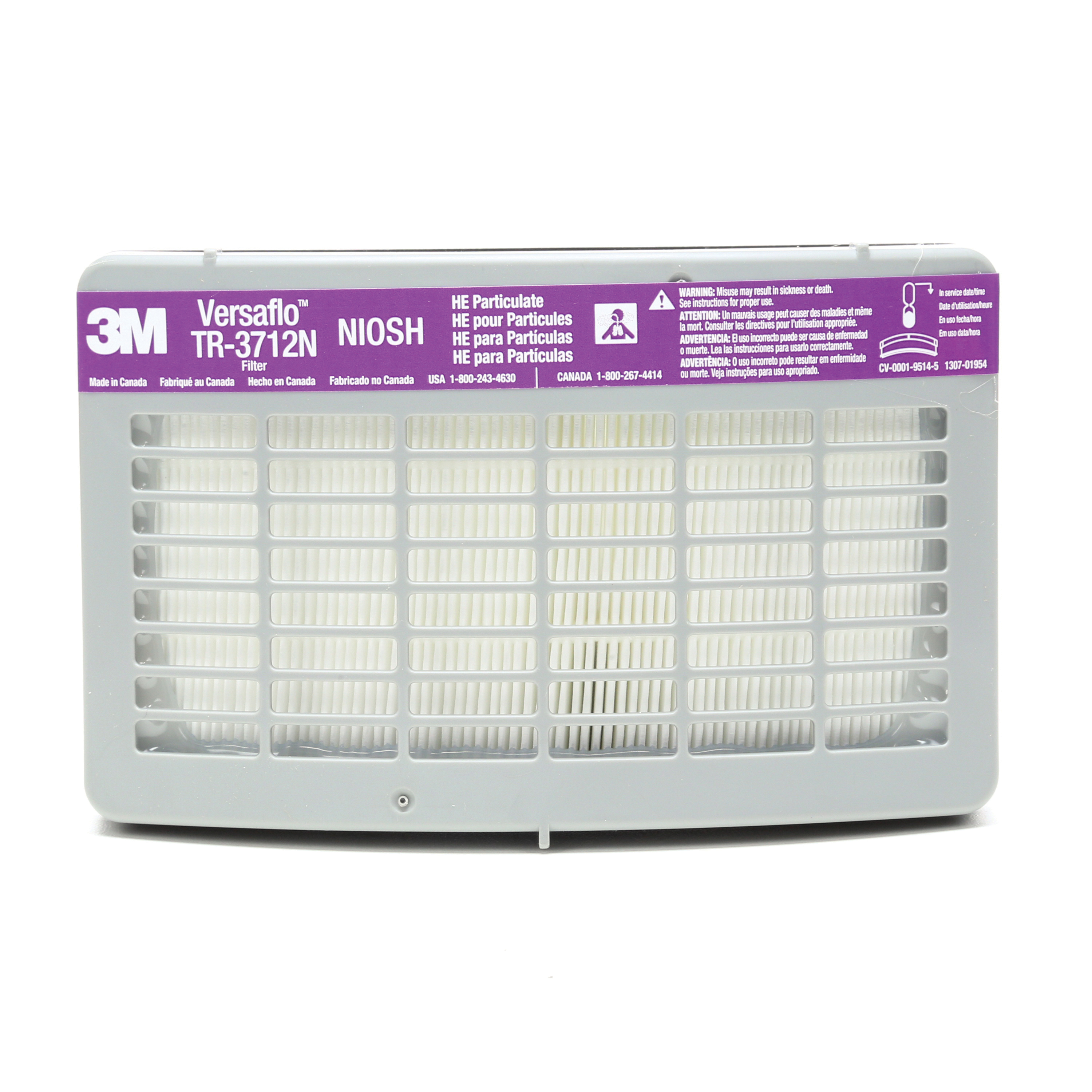 3M™ 051141-56313 TR Series High Efficiency Particulate Filter, For Use With Versaflo™ TR-300 Series PAPRs