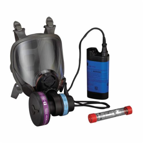 3M™ Powerflow™ 051138-76714 Lightweight Powered Air Purifying Respirator System, L, HEPA Filters and Cartridges, Rechargeable Ni-Cd Battery, Specifications Met: ANSI Z87.1-2003, OSHA-29 CFR 1910.134, CSA Z94.4