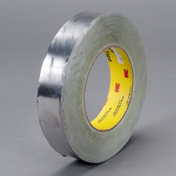 3M™ 051138-95413 Foil Tape, 36 yd L x 1 in W, 6.8 mil THK, Easy Release Film Liner, Rubber Adhesive, 4.7 mil Lead Foil Backing, Dark Silver