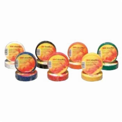 3M™ Colourflex™ 051141-04470 Economy Grade Electrical Tape, 60 ft L x 3/4 in W, 7 mil THK, Vinyl, Rubber Adhesive, Brown