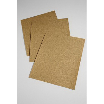3M™ 051144-02114 Coated Abrasive Sheet, 11 in L x 9 in W, 100 Grit, Fine Grade, Aluminum Oxide Abrasive, Paper Backing