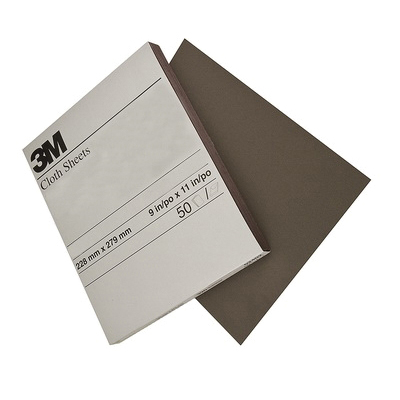 3M™ 051144-02433 Coated Sanding Sheet, 11 in L x 9 in W, Coarse Grade, Aluminum Oxide Abrasive, Cloth Backing