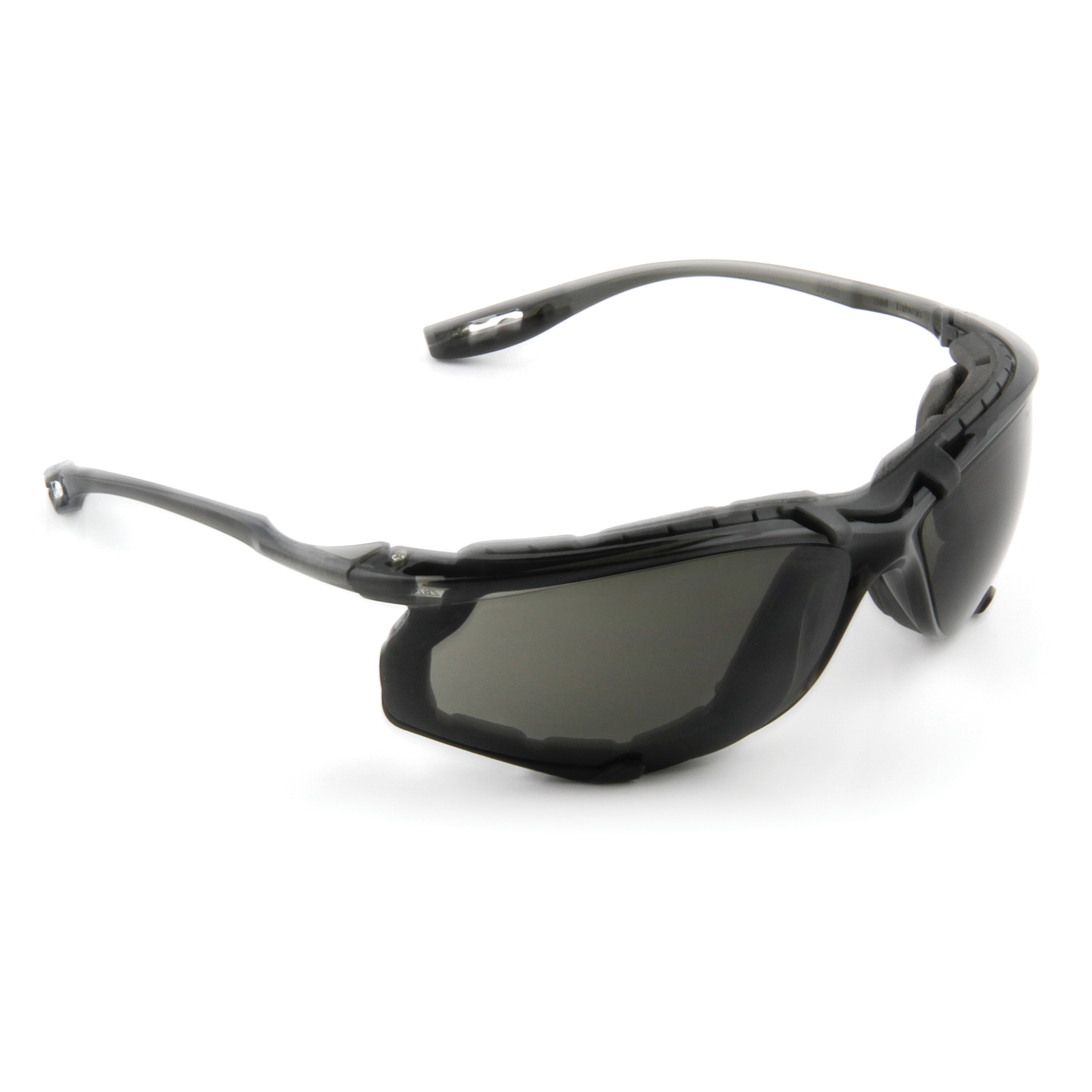 3M™ Virtua™ 078371-11873 11873-00000-20 Economy Protective Eyewear With Foam Gasket, Anti-Fog Gray Lens, Frameless/Wraparound Gray Plastic Frame, Polycarbonate Lens, Specifications Met: ANSI Z87.1-2015, CSA Z94.3
