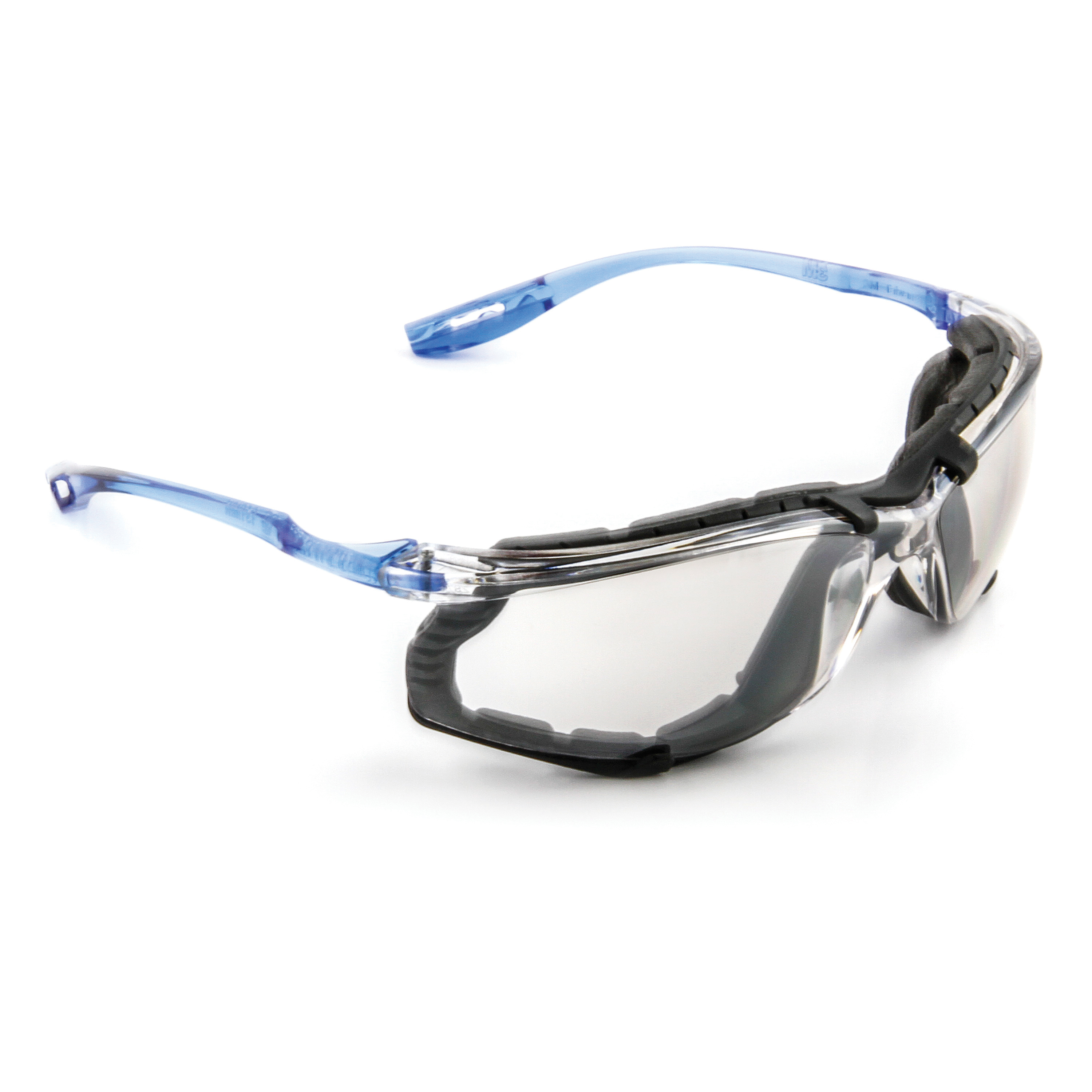 3M™ Virtua™ 078371-11874 11874-00000-20 Economy Protective Eyewear With Foam Gasket, Anti-Fog Indoor/Outdoor Mirror Lens, Frameless/Wraparound Clear Plastic Frame, Polycarbonate Lens, Specifications Met: ANSI Z87.1-2015, CSA Z94.3