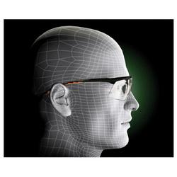 3M™ Privo™ 078371-62087 12261-00000-20 Value Range Protective Eyewear, Anti-Fog Clear Lens, Half Framed Black Plastic Frame, Polycarbonate Lens, Specifications Met: ANSI Z87.1-2015, CSA Z94.3-2007