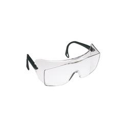 3M™ QX™ 078371-62226 12166-00000-20 Lightweight Safety Glasses, DX™ Anti-Fog/Anti-Scratch Clear Lens, Frameless Black Plastic Frame, Polycarbonate Lens, Specifications Met: ANSI Z87.1-2015, CSA Z94.3