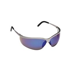 3M™ Metaliks™ 078371-62375 11540-10000-20 Sport Premium Safety Glasses, Anti-Fog Blue Mirror Lens, Half Framed Brushed Nickel Metal Frame, Polycarbonate Lens, Specifications Met: ANSI Z87.1-2015, CSA Z94.3