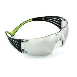 3M™ SecureFit™ 078371-66213 SF410AS 400 Lightweight Protective Eyewear, Anti-Fog Indoor/Outdoor Mirror Lens, Frameless Black/Green Polycarbonate Frame, Polycarbonate Lens, Specifications Met: ANSI Z87.1-2015, CSA Z94.3