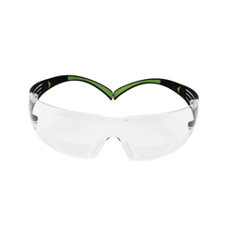 3M™ SecureFit™ 078371-66512 SF415AF 400 Bi-Focal Lens Lightweight Premium Reader Protective Eyewear, 1.5 Diopter, Clear Lens, Clear Plastic Frame, Polycarbonate Lens, 99.9% UVA/UVB UV Protection, Specifications Met: ANSI Z87.1-2015, CSA Z94.3-2007