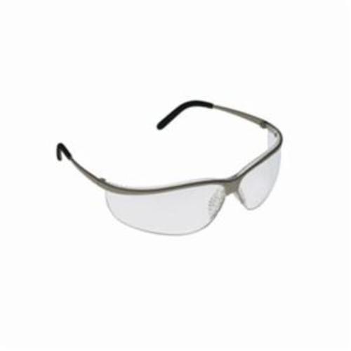 3M™ Metaliks™ 078371-62355 Sport Protective Eyewear, Anti-Fog Clear Lens, Half Frame Brushed Nickel Metal Frame, Polycarbonate Lens, Specifications Met: ANSI Z87.1-2015, CSA Z94.3-2007