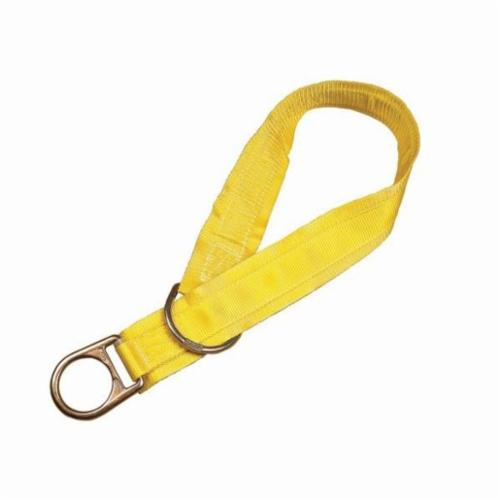3M DBI-SALA Fall Protection 1003006 Pass-Thru Web Tie-Off Adaptor, 6 ft L x 1-3/4 in W, Polyester/Steel, Yellow