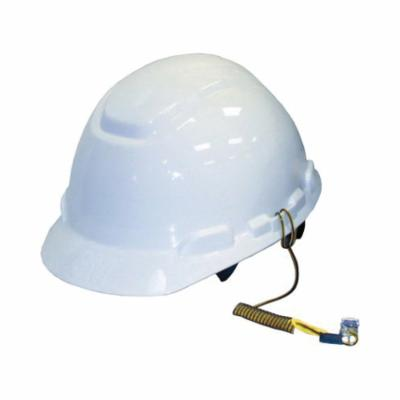 3M DBI-SALA Fall Protection 1500062 Python Safety® Hard Hat Coil Tether, 2 lb Load, 34 in L, Vinyl Line, Steel Clip with Snap Harness Connection Hook